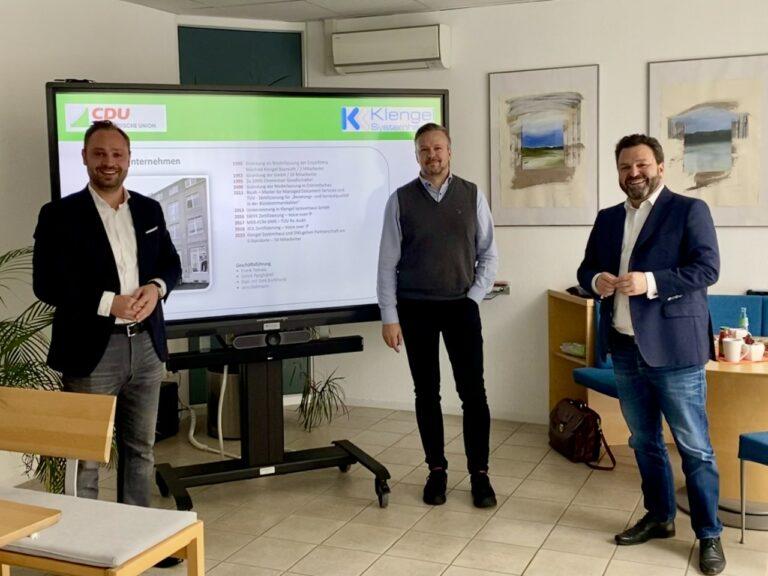Alexander Dierks und Stefan Leermann zu Besuch in Chemnitz