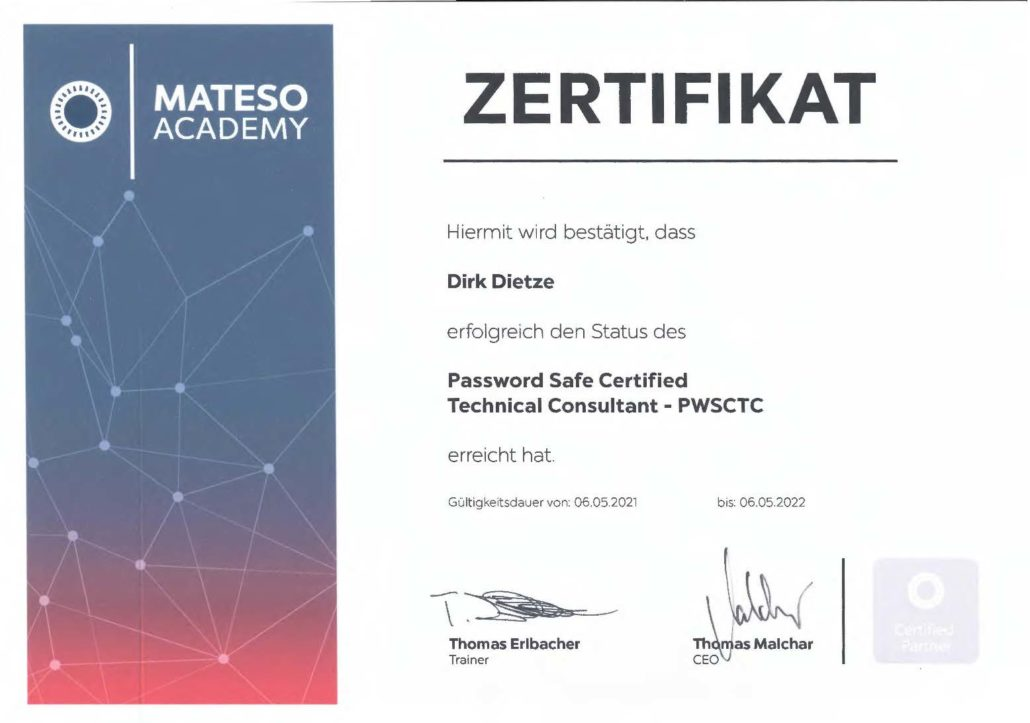 MATESO Password Safe