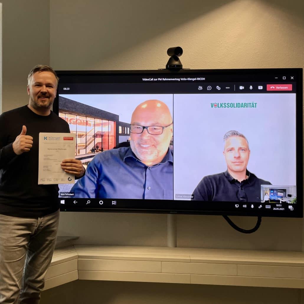 Klengel GmbH und Volkssolidarität schließen Rahmenvertrag über Drucktechnik von RICOH